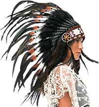 Extra Long Indian Inspired Style Headdress DOUBLE FEATHER Blue CLEARANCE PRICE