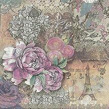 40 Count Paper Napkins, Designed Vintage Flowers Prints Cocktail Napkins, Serviettes Napkins for Weeding, Dinner and Party...
