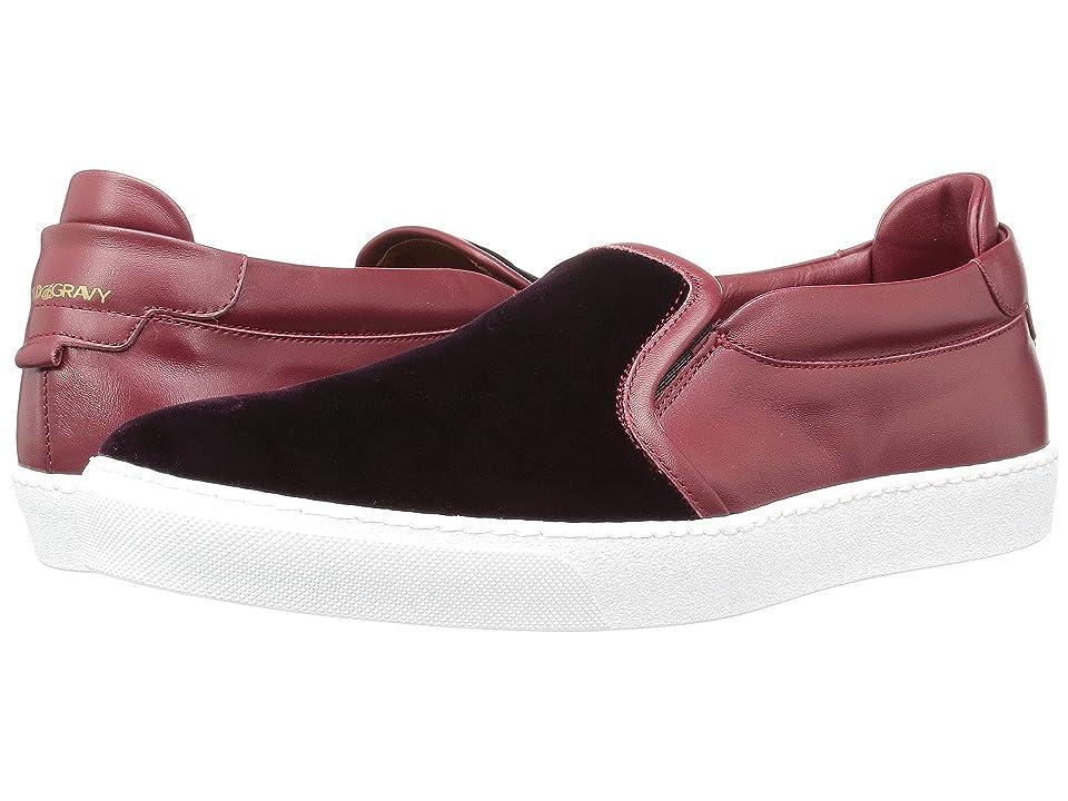 Gold & Gravy Ted Velvet Sneaker (Burgundy Velvet) Men