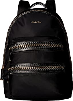 Calvin Klein - Florence Nylon Woven Chain Pocket Backpack