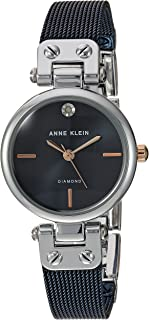 Anne Klein - Reloj de pulsera para mujer con detalles de diamante