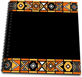 3dRose db_76554_2 Traditional African Pattern-Art of Africa Inspired by Zulu Beadwork Geometric Designs-Ethnic-Memory Book, 12 by 12