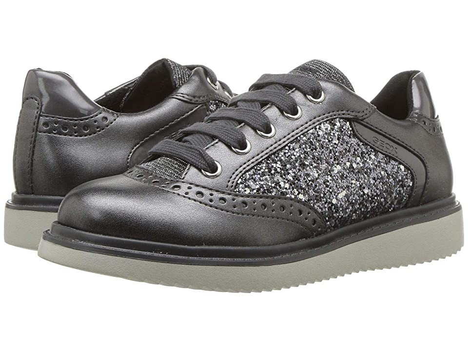 Geox Kids Thymar Girl 15 (Little Kid/Big Kid) (Dark Silver) Girl