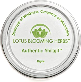 Authentic Shilajit - Genuine Himalayan SHILAJIT in It's Natural, Pure and Most Potent Resin Form. 10 Grams (1-2 Month Supply)