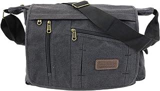 irisaa Große Umhängetasche Damen, Casual Handtasche mit vielen fächern, Canvas Multifunkionale Schultertasche für Schule S...