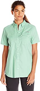 Columbia Women's Bonehead II Short Sleeve Shirt, Light Mint, Large