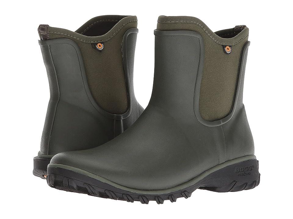 Bogs Sauvie Solid Slip-On Boot (Sage) Women