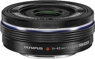 Objetivo Olympus M.Zuiko Digital 14-42mm F3.5-5.6 EZ, Zoom estándar, Adecuado para Todas Las cámaras MFT (Modelos Olympus OM-D & Pen, Serie G de Panasonic), Negro