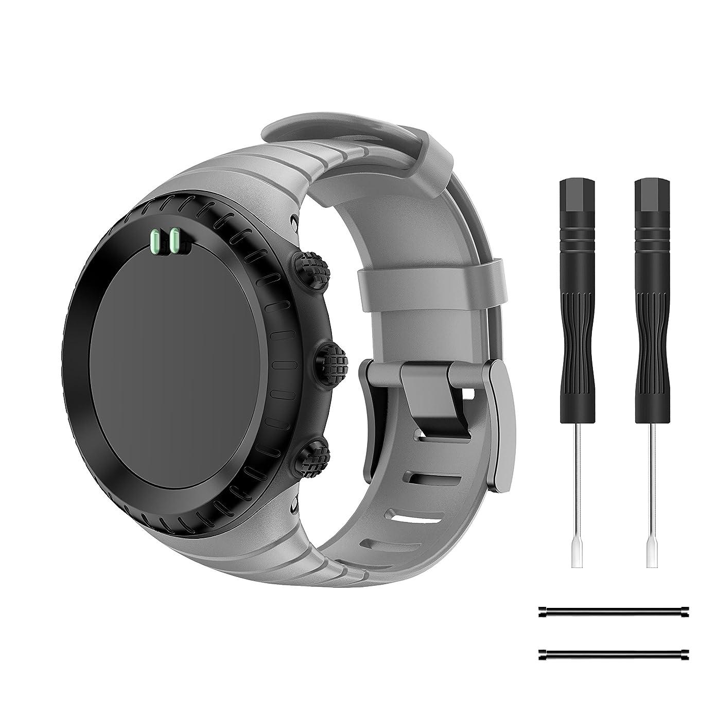 Compatible SUUNTO core ベルト,YAYUU SUUNTO(スント) Coreコア専用 ソフト 高級 TPU製腕時計ストラップ/バンド 交換ベルト 腕サ