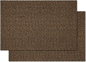 "2-Pack Door Mat Outside Inside Front Door mat, 16""x24"" Entrance Door Mat with Rubber Backing, Durable Dirt Trapper Rug, Brown"