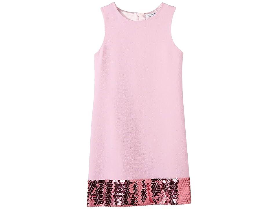 Dolce & Gabbana Kids Wool Crepe Dress (Big Kids) (Rose) Girl