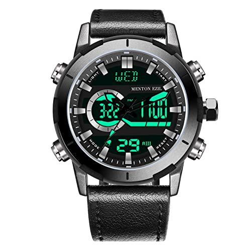 04865d175b5 Menton Ezil Mens Tactical Watch Unique Sport Digital Analog 50M Waterproof  Square Dial Big Face Watches