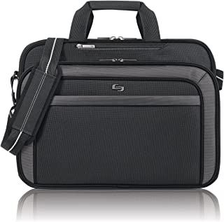 Solo Empire 17.3 Inch Laptop Briefcase, TSA Friendly, Black/Grey