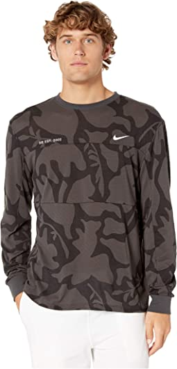 3f22dc72 Anthracite/Black/White. 1. Nike SB. SB Dry Print Mesh Long Sleeve Top
