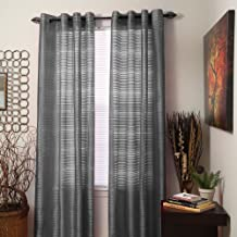 "Bedford Home Maggie Grommet Single Curtain Panel, 54"" x 95"" inch, Grey"