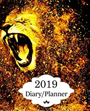 2019 Diary Planner: Page a Day (365 Pages) Daily Diary / Planner, Calendar Schedule Organizer for Daily, Weekly & Monthly Goals Golden Lion Roaring Cover
