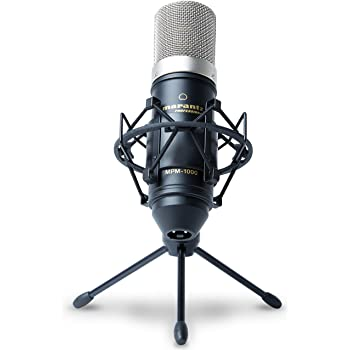 Marantz Professional MPM-1000 - Studio Recording Condenser Microphone with Desktop Stand and Cable - for Podcast and Streaming Projects