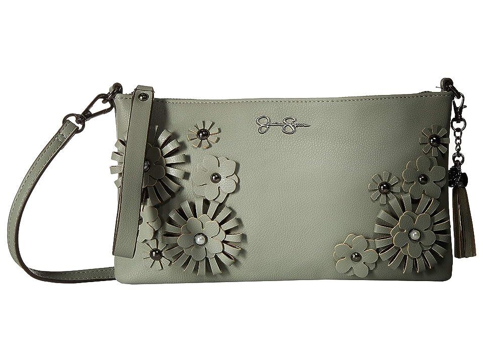 Jessica Simpson Natalia Clutch Crossbody (Sage) Cross Body Handbags