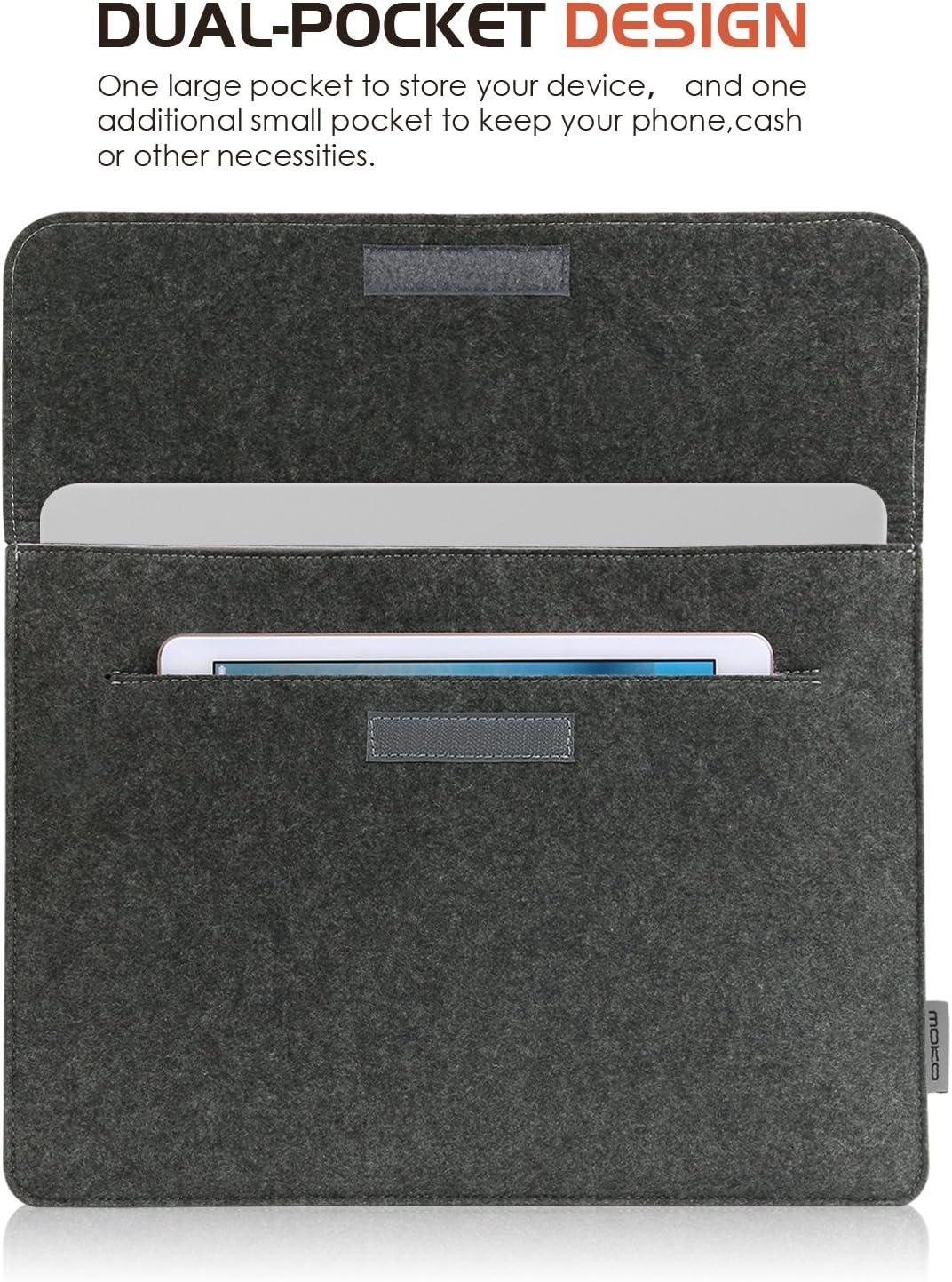 iPad 9.7 Air 3 10.5 Dark Gray S7 Tab S6 Lite Galaxy Tab A 10.1 MoKo 10-11 Inch Felt Tablet Sleeve Carrying Case with Small Bag Fits iPad Pro 11 iPad Air 4 10.9 iPad 8th 7th Generation 10.2