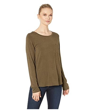 Prana Foundation Long Sleeve Crew Neck Top (Slate Heather) Women
