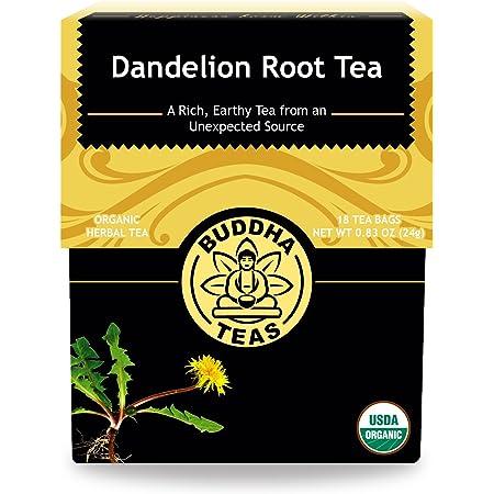 Organic Dandelion Root Tea – 18 Bleach-Free Tea Bags – Caffeine-Free Tea with a Rich, Earthy Taste, Natural Source of Vitamins, Minerals, and Antioxidants, Kosher, GMO-Free
