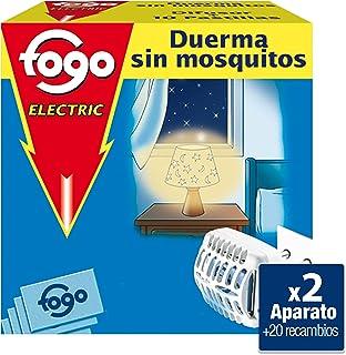 comprar comparacion Fogo Anti-Mosquitos Insecticida Insectos Voladores Aparato Eléctrico + Pastillas, Pack de 2 aparatos + 20 pastillas