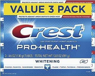 Crest Pro-Health Whitening Gel Toothpaste, 4.6 oz, 3 Count, Triple