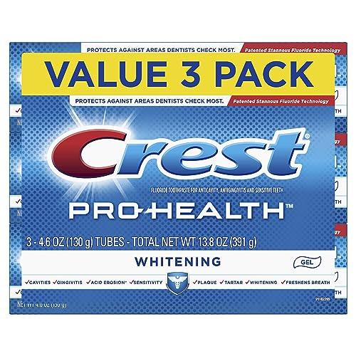 Crest Pro-Health Whitening Gel Toothpaste 4.6 oz 3 Count Triple