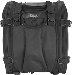 VUZ Moto Expandable Motorcycle Tail Bag, Waterproof Motor-Bike Luggage, for Adventure and Urban Riders