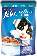 Purina Felix As Good as it Looks Tuna Wet Cat Food Pouch, 100 gm