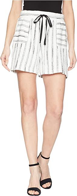 Nubby Stripe Drawstring Shorts