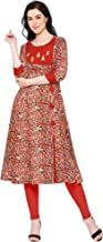 Yash Gallery Indian Tunic Tops Women's Cotton Kalamkari Print Kurta