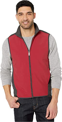 Color Block Stretch Full Zip Fleece Vest