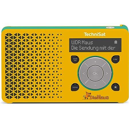 Technisat Digitradio 1 Maus Edition Tragbares Dab Radio Mit Akku Dab Ukw Kopfhöreranschluss Lautsprecher 1 Watt Rms Gelb Türkis Heimkino Tv Video