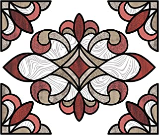 InHome NH2416 Red Westwood Stained Glass Window Film