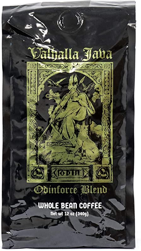 Valhalla Java Whole Bean Coffee By Death Wish Coffee Company Fair Trade And USDA Certified Organic 12 Ounce Bag