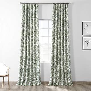HPD HALF PRICE DRAPES BOCH-KC16072B-96 Tea Time Blackout Room Darkening Curtain 50 X 96,Green