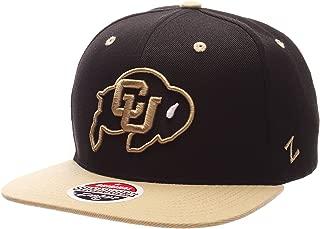 Zephyr Z11 6-Panel Superstar Snapback Cap - NCAA ZHATS Flat Bill, One Size Adjustable Baseball Hat