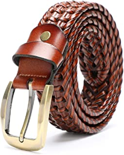 أحزمة ايرندا للرجال عصرية من الجلد وحزام منسوج بعرض 35 مم