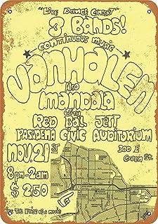 Treasun 1975 Van Halen in Pasadena 2 12 X 8 Inches Retro Metal Tin Sign - Vintage Art Poster Plaque