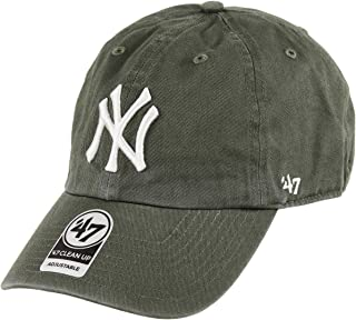 '47 Brand New York Yankees Clean Up Dad Hat Cap Strapback Moss (Olive) Green/White