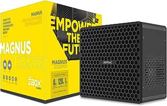ZOTAC Magnus EC52070D Super Compact Mini PC GeForce RTX 2070, Intel Core i5-8400T 6-core Processor, Killer Networking, 8GB DDR4/128GB SSD/1TB HDD Windows 10 Home 64-bit System, ZBOX-EC52070D-U-W2B