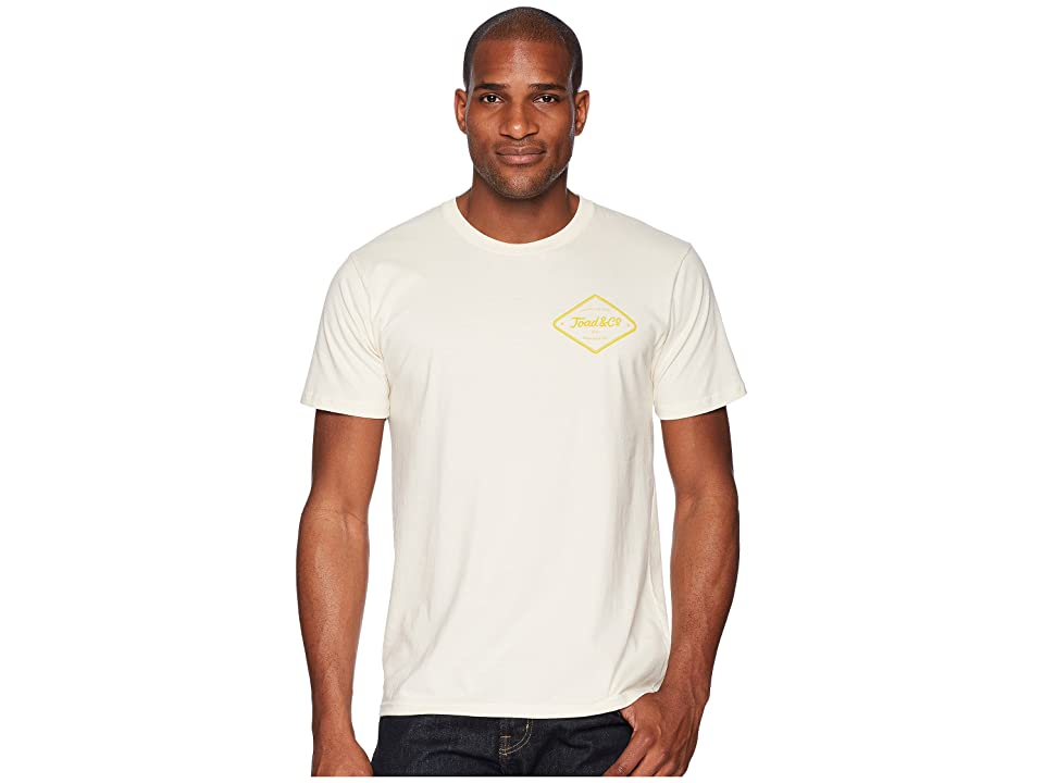 Toad&Co Pint Half Full Short Sleeve Tee (Natural) Men