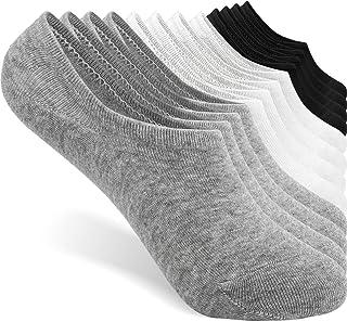 TRENDOUX, 6 Pares de Calcetines Tobilleros Mujer Invisibles Calcetines Cortos de Algodón Respirable Antideslizantes