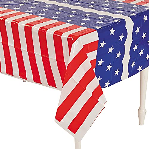 9b7c373219ca Fun Express - Stars   Stripes Tablecloth for Fourth of July - Party Supplies  - Table