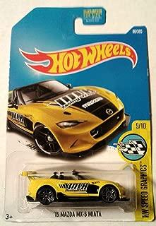 Hot Wheels 2017 HW Speed Graphics '15 Mazda MX-5 Miata 80/365, Yellow