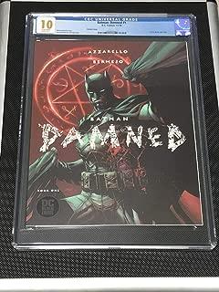 CGC 10 BATMAN DAMNED #1 2018 JIM LEE RARE VARIANT COVER *GEM MINT WHITE PAGES*