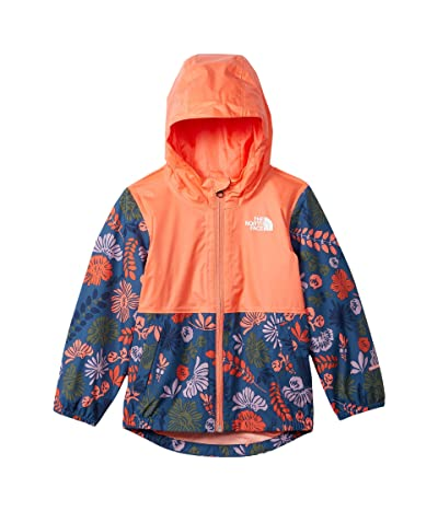 The North Face Kids Zipline Rain Jacket (Toddler) (Lavender Mist Wallflower Print) Girl