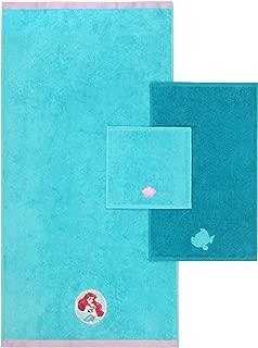 Disney Little Mermaid Kids 3 Piece Bath Towel Set – Bath, Hand, Washcloth Set Featuring Ariel - Super Soft & Absorbent Fade Resistant Cotton Towels (Official Disney Product)