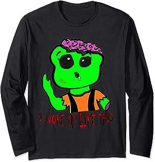 Green Zombie - I woke up like this - Great Halloween Gift Long Sleeve T-Shirt